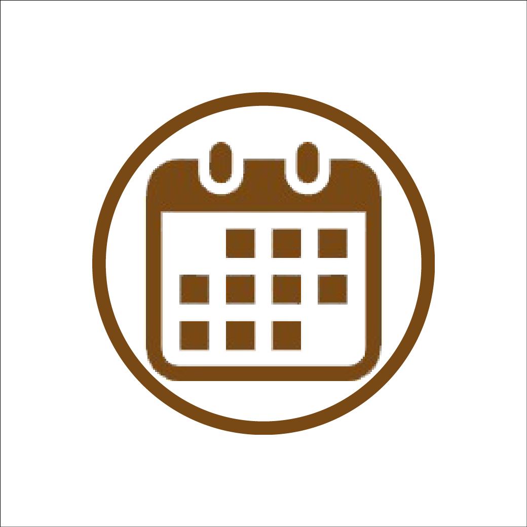 カレンダーのアイコン素材